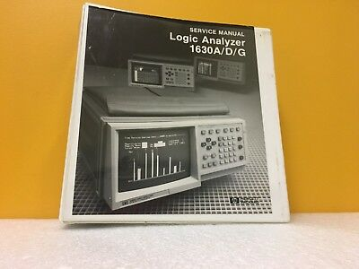 Hp Agilent 01630-90905 1630adg Logic Analyzer Service Manual