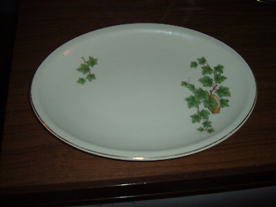 Paden City Pottery Ivy 11 3/4 inch Oval Platter Gold Edge