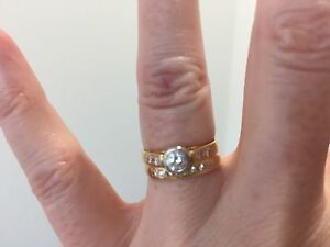 Engagement ring and wedding ring set Brassall Ipswich City Preview