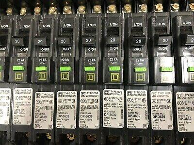 Square D Qob120vhafi Arc Fault Circuit Breaker 20a 1 Pole 120v 22ka