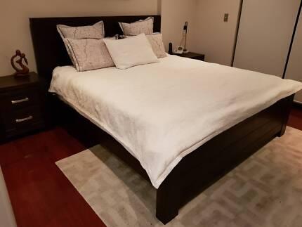 BEDROOM SUITE - KING BED, 2 BEDSIDE TABLES & TALLBOY