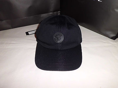Versace  Baseball   Cap Medusa Leather  Rare  ()