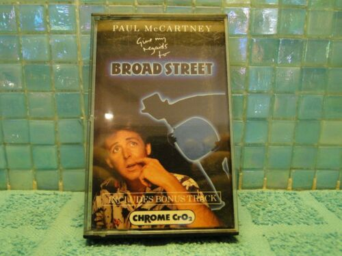 Paul McCartney Give My Regards To Broad Street Cassette Tape TESTED IMPORT