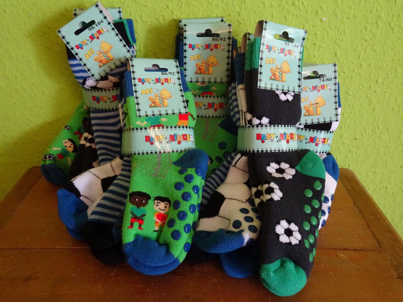 3 Paar Baby Kinder ABS Socken Stopper Fußball Anti Rutsch Frotteesocken 74-104