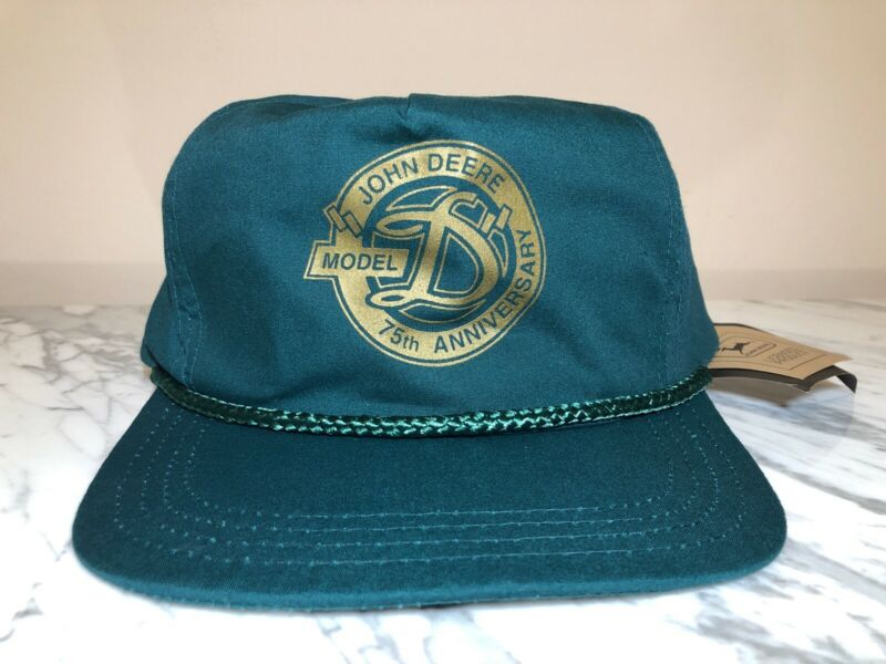 "VTG John Deere Model ""D"" 75th Anniversary Licensed Product Katl Rope Trucker Hat"