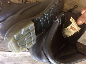 Red wing combat style steel toe boots