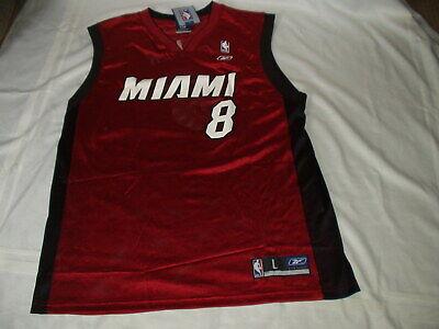 NBA Authentic vintage MIAMI HOOPS GEAR men's WALKER #8 Reebok JERSEY Size L  NWT ()