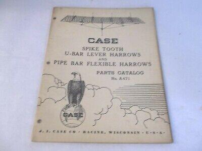 Case Spike Tooth U-bar Lever Harrow Pipe Bar Flexible Harrow Part Catalog A471