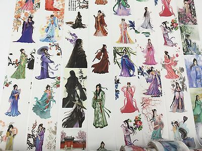 Chinoiserie Washi tape Ancient Women Men Clothing Wide Fat Print 30mmx5M 1pc