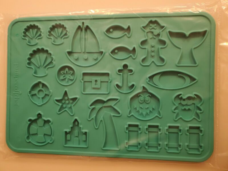 Pampered Chef SUMMER COOKIE MOLD Silicone makes it easy to remove cookies