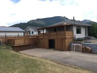 Decks, fencing and landscaping !