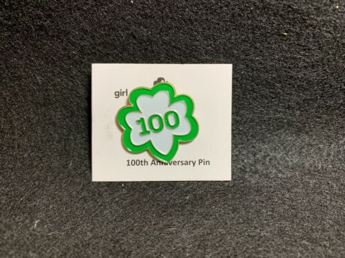 2012 Girl Scouts 100th Anniversary Pin - New Unused With Original Card