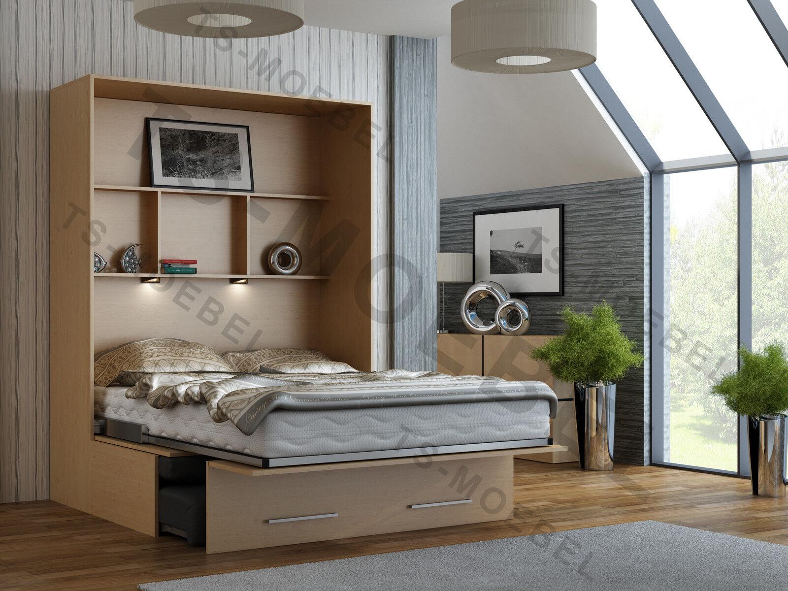schrankbett wandbett klappbett mit sofa classic. Black Bedroom Furniture Sets. Home Design Ideas