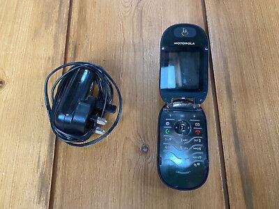 Black Motorola PEBL U6 Classic Retro Flip Phone