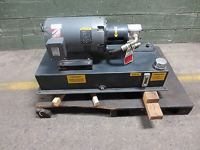 Hydraulic pump unit - 10 HP  3 phase  Baldor electric motor,   Casaappa Pump