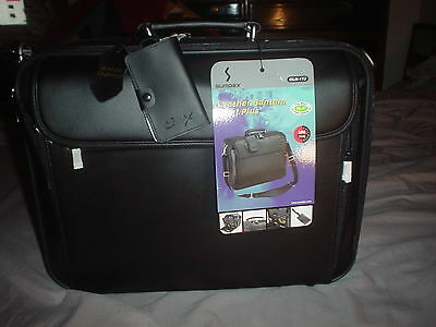 NEW SUMDEX LEATHER BRIEF CASE  NEW WITH TAGS Sumdex Black Briefcase