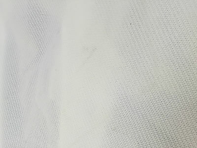 white archery netting 5.3m x 1.7m (approx) plain edge **slightly marked**