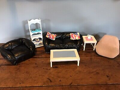 Barbie Black Living Room Furniture Vintage
