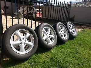 Subaru Forester Wheels + Near New Tyres Henley Beach Charles Sturt Area Preview