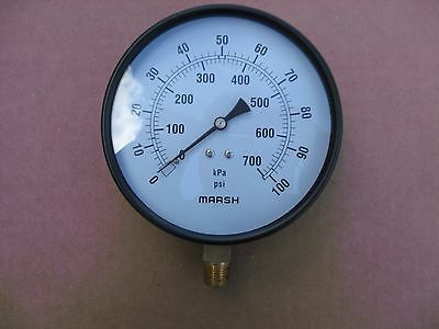 Marsh Bellofram J9048 Pressure Gauge - New In Box Old Stock