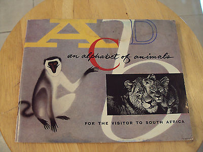 """VTG 1962 South AFRICA Game Reserves Booklet~""""ABCD an ALPHABET of ANIMALS"""""""