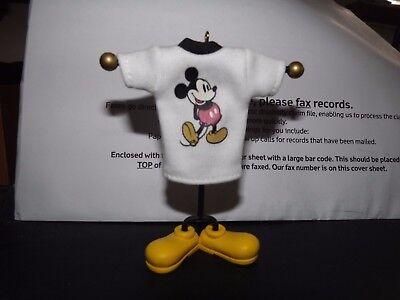 "Mickey Mouse Shirt Style with a Smile 4"" Christmas Ornament Disney Hallmark 2007"