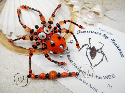 TreasuresbyTiziana® Christmas Ladybug Pincushion Needle Pins Holder Eye Spider