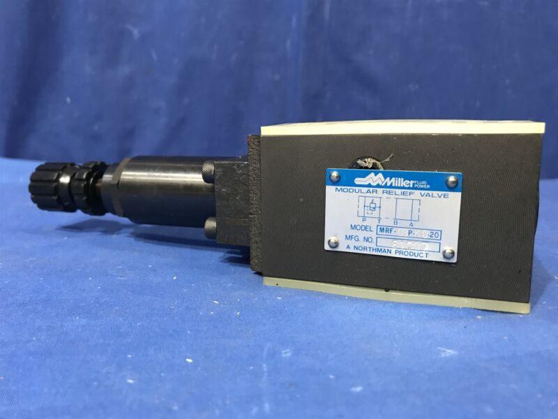 Miller Northman MRF-03P-K0-20 modular hydraulic relief valve Free Shipping