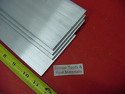4 Pieces 14 X 6 Aluminum 6061 Flat Bar 11 Long T6511 .25 Plate Mill Stock