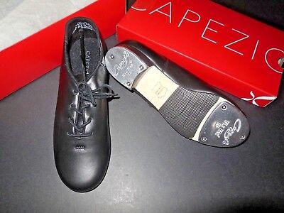 Capezio CG19 Cadence Black Tap Oxford TeleTone Taps Leather upper  ladies sizes Black Leather Tap Oxford Shoes