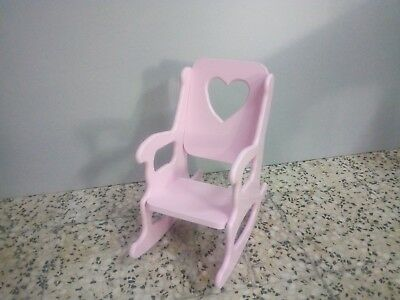 silla mecedora para niña rosa