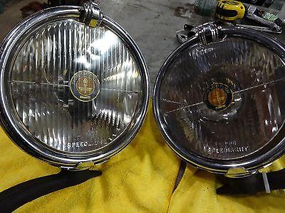 1930 's 1940 's Vintage Accessory Trippe Driving Lights Original Pair Speedlight