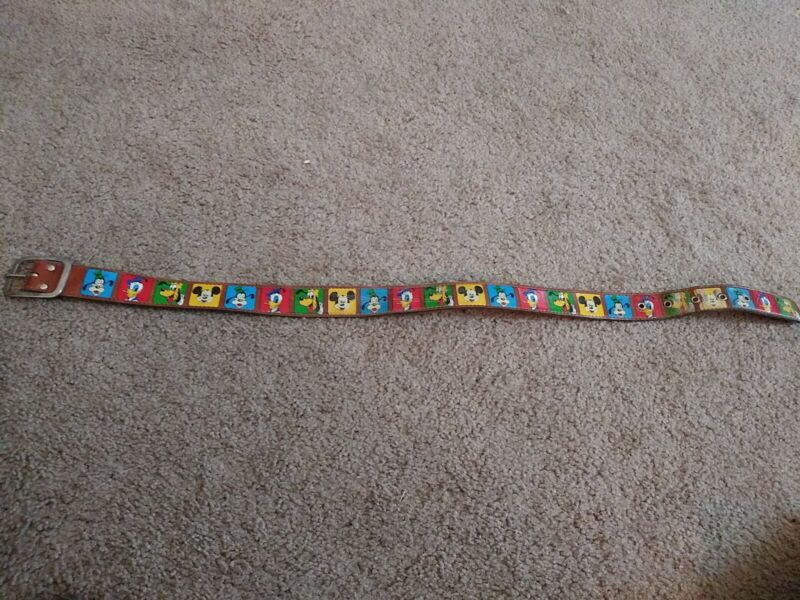 Vintage Walt Disney Productions Pyramid Belt Co. Rare Kids Belt Size 22-26 Worn