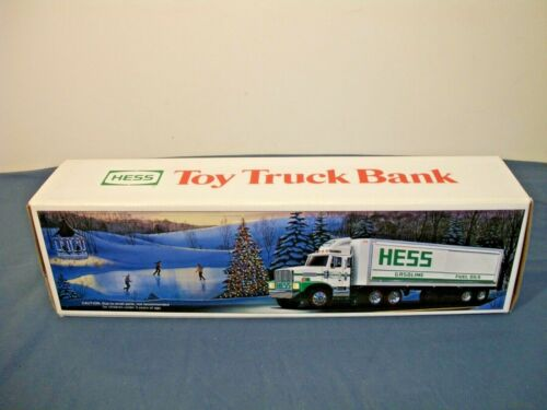 1987 Hess Toy Truck Bank with Barrels New IN Box
