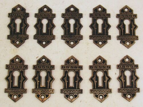 "One Original Branford Lock Works Cast Bronze ""Oriental"" Pattern Keyhole Cover"