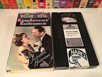 * Employees' Entrance Rare Pre-Code Drama VHS 1933 Warren William Loretta Young