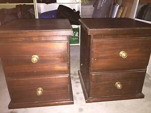 Pair of matching Jarrah stained Bedside Tables Nowra Nowra-Bomaderry Preview