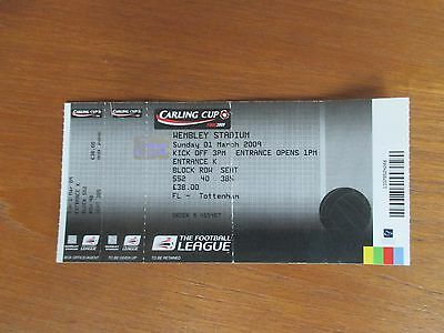 Manchester United v Tottenham football ticket - Carling League Cup final 2009