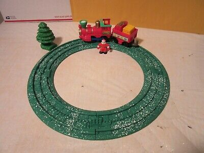 Fisher Price Geotrax Holiday Push Train Set Christmas Winter Snow