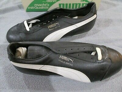 5ed8e264514 Vintage Puma 91550 World Series Size 12.5 Baseball Cleats Shoes Real Leather  B8