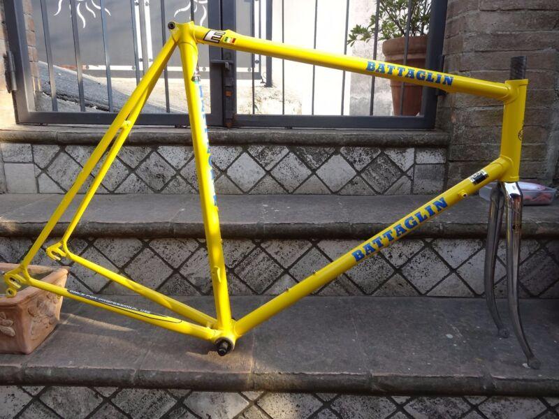 NOS  Battaglin frame&fork steel L