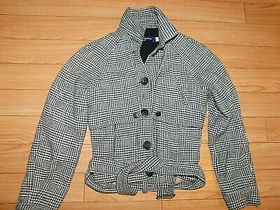 OPENING CEREMONY HOUNDSTOOTH JACKET WITH BELT SIZE SMALL