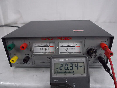 Elenco Precision Model Xp-581 Quad Power Four Linear Regulated Power Supply