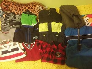 Gently used boys winter clothes size 3 to 4 for $30.