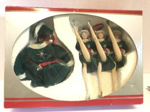 Vintage Radio City Kicking Rockettes Christmas Spectacular Holiday Ornaments