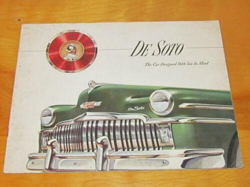 DeSoto Dealership Brochure Catalog Manual original.
