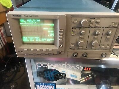 Tektronix Tas455 Dual Trace Oscilloscope 60 Mhz Tested For Power Only