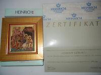 Heinrich Miniatura Icono Motivo 3: Nacimiento De Cristo Con+certificado Nº 1795 -  - ebay.es