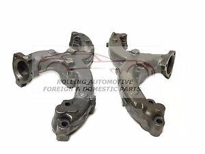 283 327 350 5.7L Chevrolet GMC Ram Horn Center Dump Exhaust Manifold New Set