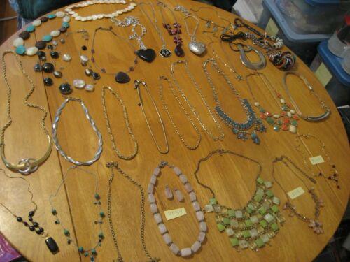 30 Piece Costume Jewelry Statement & Pendant Necklaces ELLE HDNY Avon +